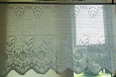 """36""""x 22"""" Vintage Arts Crafts period shabby chic cottage lace panel sample c1930s"""