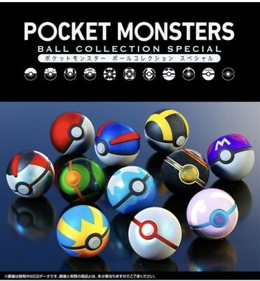 Premium Bandai Limited Pokemon Pocket Monster Ball Collection SPECIAL Set Of 11
