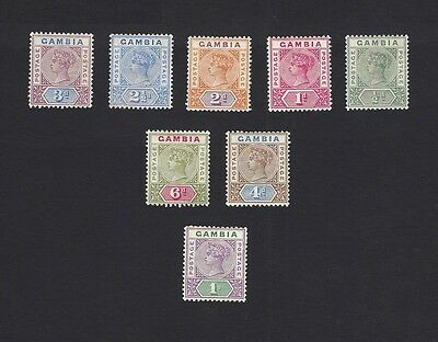 Gambia 1898 QV complete SG 37-44 MM