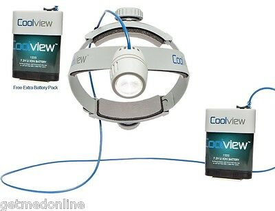 NEW ! Cool View Surgical Headlight, 140,000 Lux, Day Light Brightness, 1400XT