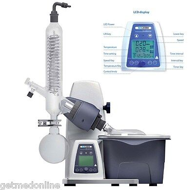 NEW ! Scilogex RE100-Pro Digital Rotary Evaporator RotaVap w/Glassware, 61113201