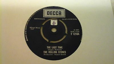 "ROLLING STONES 7""single THE LAST TIME 1965"