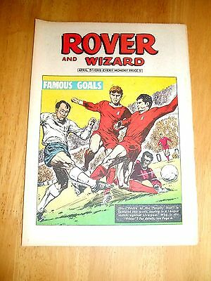 Jimmy Greaves Scores Against Liverpool  Hughes & Yeats Cover  Rover Comic 1969