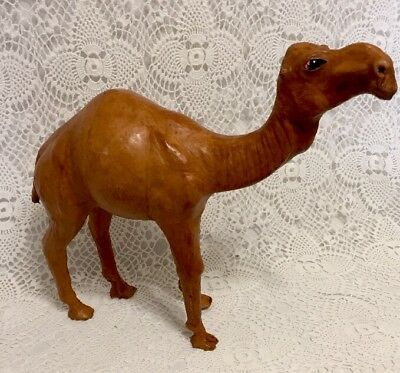 Large Leather Camel Pachyderm Nativity Figure 12.5""