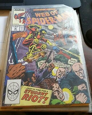Web of Spider-Man #56 VF (1989) Marvel Comics Comes in plastic sleeve
