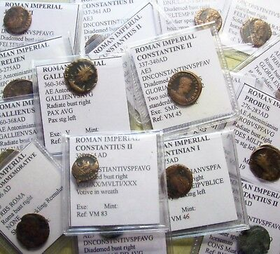 Lot of Ancient Roman Coins in Flips (1 Bid=1 Coin)