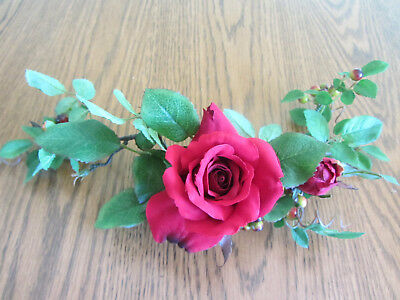 Red Rose Mini Ring Vine Home Interiors Homco Decor