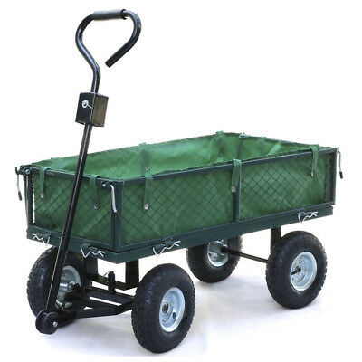 Small-scale 200kg Metal Garden Outdoor Utility Hand Cart with Interior Cover SS