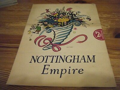 1940  Theatre  Programme  - A  Variety Performance -  At The Nottingham Empire