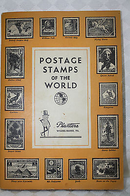 Original Planters Peanuts Postage Stamps of the World Book 1940s