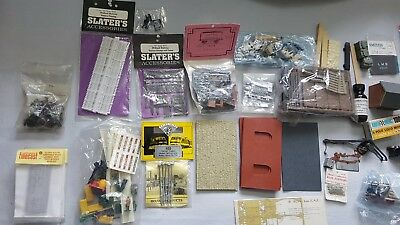 Large lot of 00 Gauge Railway Accessories, Scenery, Lichen, Track and more