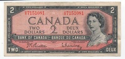 1954 Bank of Canada Two Dollar Currency Note