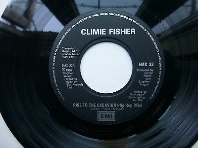 "Climie Fisher Rise To The Occasion ( Hip Hop Mix ) 7"" Vinyl 1987."