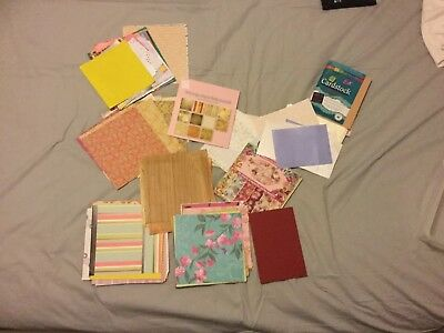 Card and paper for cardmaking and scrapbook, 4x4 and 6x6