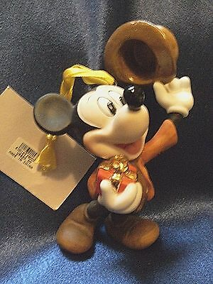 Mickey Mouse Ornament Disney World Christmas Convention 1998 Porcelain Bisque