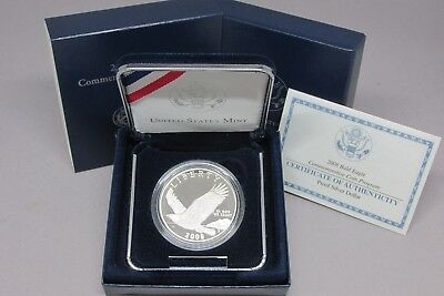 2008-P Bald Eagle Commemorative Silver Dollar Proof Coin w/ Mint Box &  COA