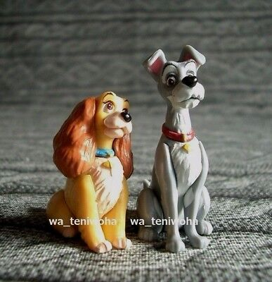 New Set! -Lady and the Tramp- 2 Figures So Tiny! Disney Choco Egg Miniature Dog