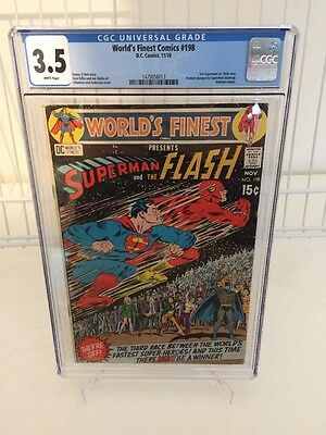 Worlds Finest 198! 3rd Superman And Flash Race! CGC 3.5 Very Rare! Bronze Age!