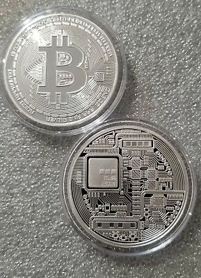 Bitcoin Proof 1 oz .999 fine Solid silver commemorative AOCS limited 2500 minted