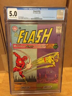 The Flash #153 CGC 5.0! Professor Zoom And Mr. Elemental Appearance! Awesome!