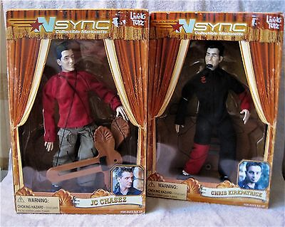 Lot Of 2 - N Sync Marionette Dolls - Jc Chasez & Chris Kirkpatrick - Great Gift!