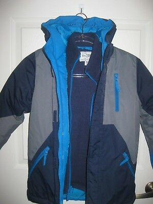 Boys The Childrens Place Waterproof Hooded Winter Snow Coat Jacket size 7/8