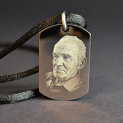 Engraved Personalised DOG TAG Cremation Urn Pendant Memorial Jewellery St. Steel