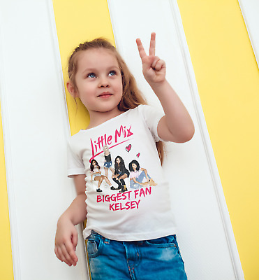 Little Mix t shirt personalised  children's /kids  top birthday/christmas gift