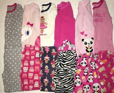 Gymboree Carters Girl 3T 4T Pajama Lot Fall Winter Gymmies Shirt Pants L/S Warm