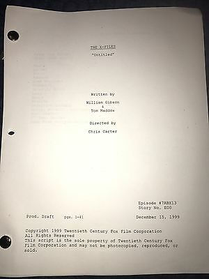 X-Files Season 7 Script First Person Shooter Production Used