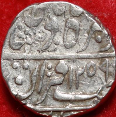 AH 1259 (1843) Tonk. Indian State 1 Rupee Silver 10.8g Foreign Coin Free S/H