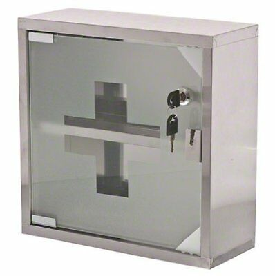 Easy to Mount Heavy Duty Medicine Case With Locking Glass Front Door - 12 Inch