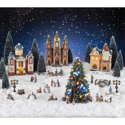 Christmas Holiday Village (30-piece Set); Lights, Music w/ 8 songs FAST SHIP