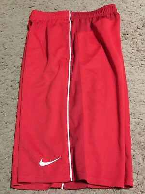 Boys Youth Nike DRI-FIT Red Athletic Shorts Size XL