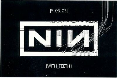Nine Inch Nails With Teeth RARE promo postcard '05
