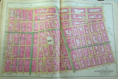 1891 Little Italy Lower East Side East Village Manhattan  New  York Map Atlas