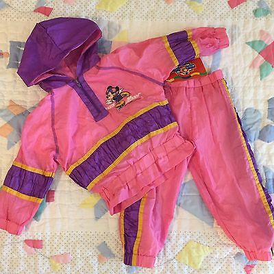 Roller Minnie Vintage Outfit Jumpsuit Sweatsuit Pink 2t Girl Jacket Disney 2