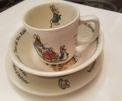 Wedgwood The World of Peter Rabbit 3 Piece Child Tea Set Frederick Warne
