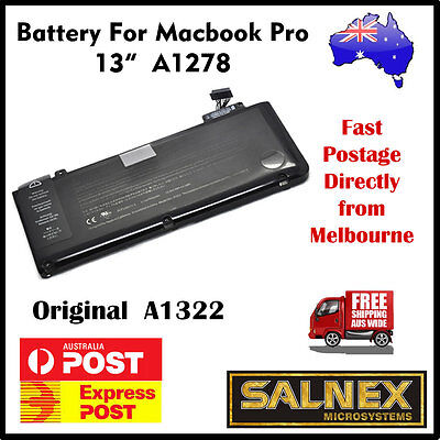 "Genuine Battery A1322 for Apple MacBook Pro 13""  A1278 2009 2010 2011 and 2012"
