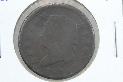 1814 Large Cent AG Crosslet 4