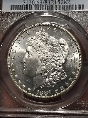 1881 S Morgan Silver Dollar PCGS MS63
