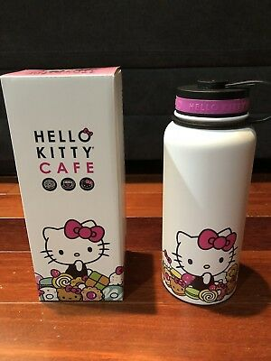 Hello Kitty Cafe Exclusive Stainless Thermal Bottle (32 oz) NIB Limited & Rare