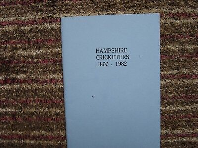 Hampshire Cricketers: 1800-1982 (Paperback)