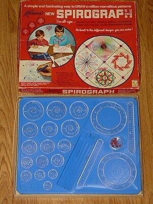 Vintage 1967 Spirograph Kenner's # 401 Drawing Set - Wheels & Gears