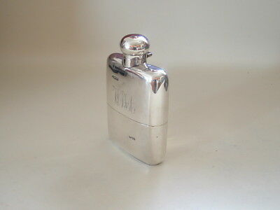 An Antique Sterling Silver Hip Flask. Chester 1902.