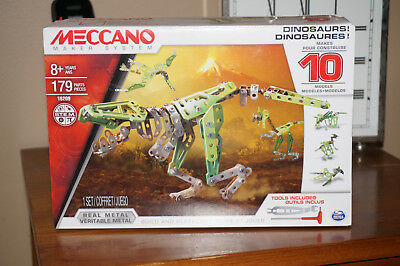 Meccano Maker System 8+ Dinosaurs -Makes 10 Models -16209- New In Box