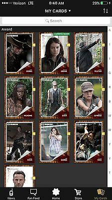 Topps The Walking Dead Card Trader Classic Complete Season Four Inserts & Award