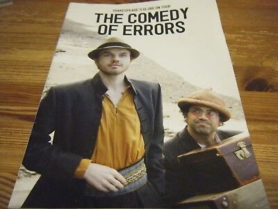 2009  Theatre  Programme  - The Comedy Of Errors -  Shakespeares Globe On Tour