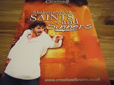2008  Theatre  Programme  - Saints And Sinners  - At The Oxford Open Air Theatre