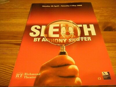 2008  Theatre  Programme  - Sleuth -   At The Richmond  Theatre    Vgc